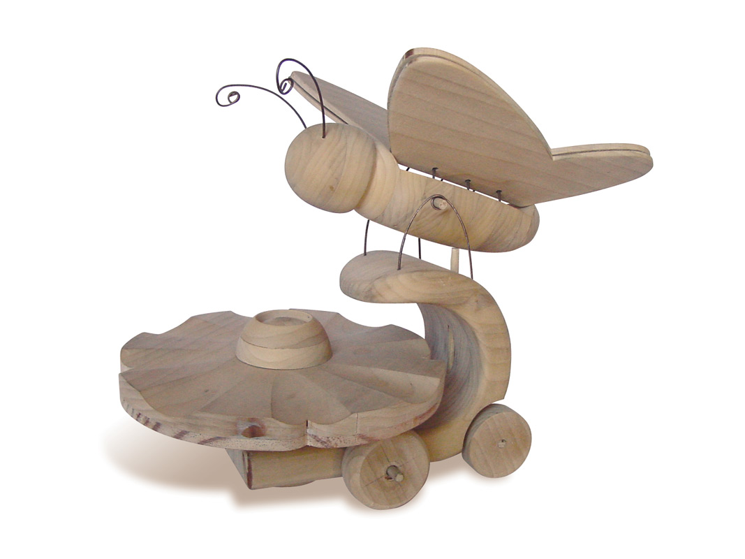 wooden butterfly toy